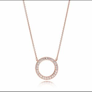 Pandora rose circle of sparkle pendant necklace